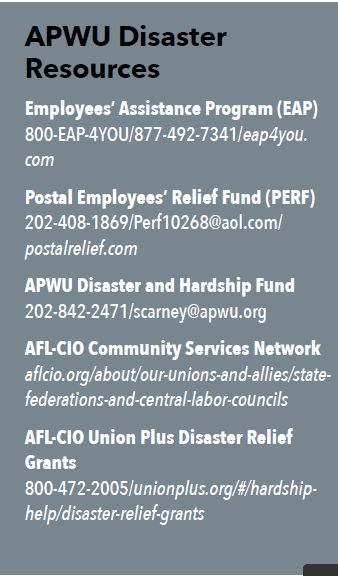 Union Family Comes Together to Assist Affected Members