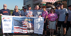 Members of the Champaign, IL Area Local welcomed the Wounded Warriors to Danville, IL.