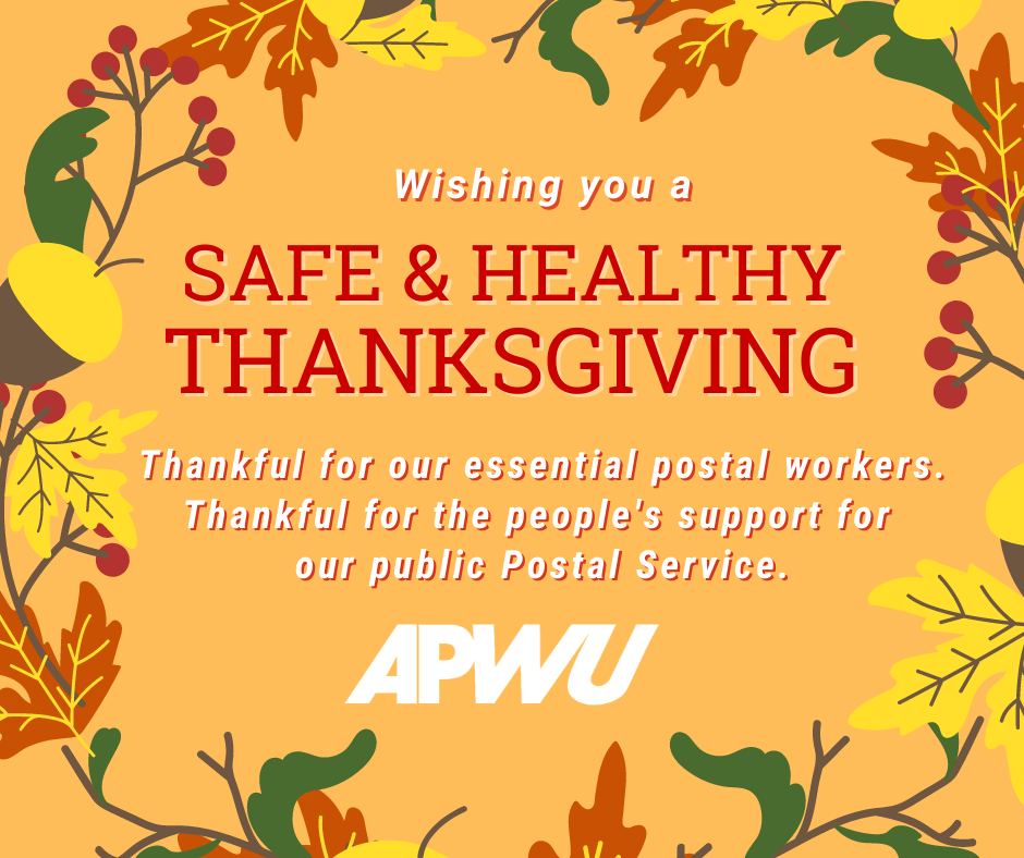 Wishing you a safe and healthy Thanksgiving