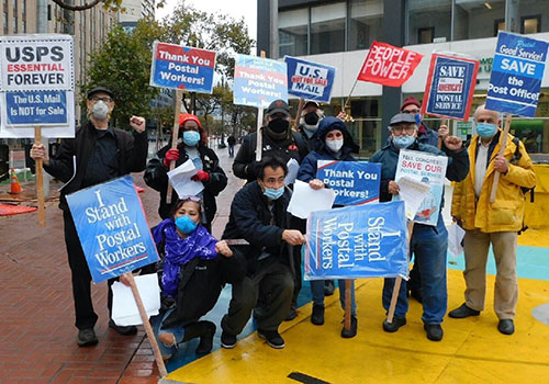 Postal Service advocates rally in San Francisco