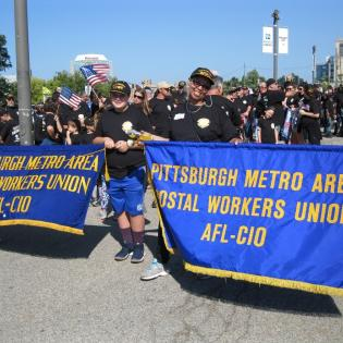 Pittsburgh postal workers at rally