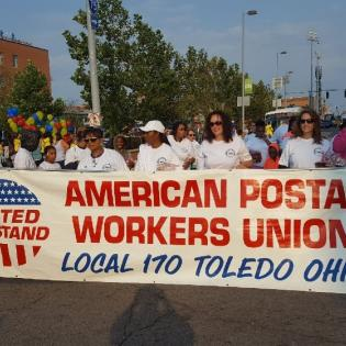 Local 170 at rally in Toledo