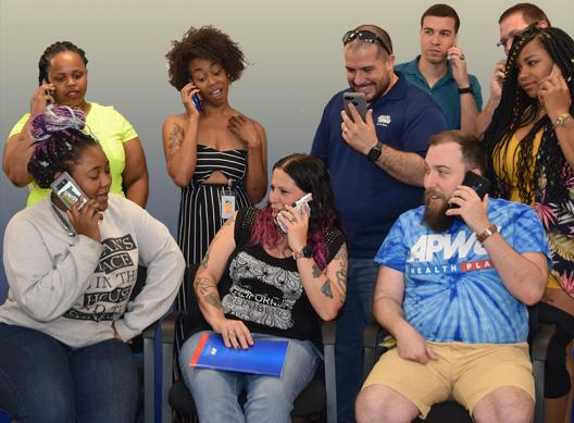APWU Young Member Committee Members Make Calls
