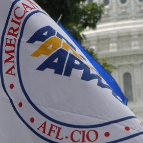 APWU flag flies at the US Capitol