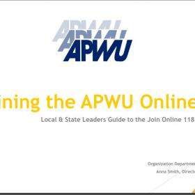 Joining the APWU Online Guide