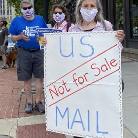 US Mail Not For Sale Protest