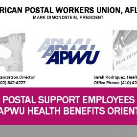 PSEs and the APWU Health Benefits