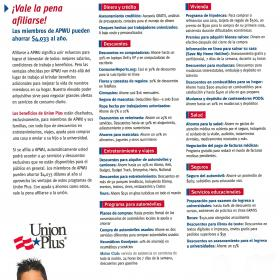 Union Plus Benefits Brochure - en Español
