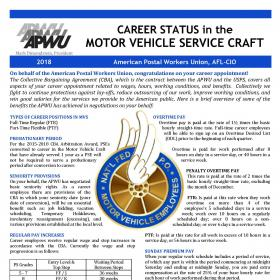 Welcome to Career Status in the Motor Vehicle Services Craft